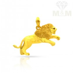 Incisive Gold Lion Pendant