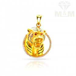 Optimum Gold Tiger Pendant