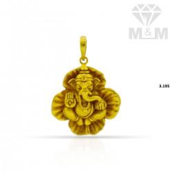 Exquisite Gold Ganesha pendant