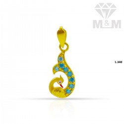 Charming Gold Peacock Pendant