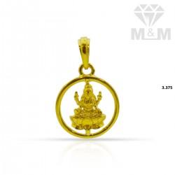 Dainty Gold Lakshmi Pendant