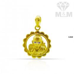 Embellish Gold Saibaba Pendant