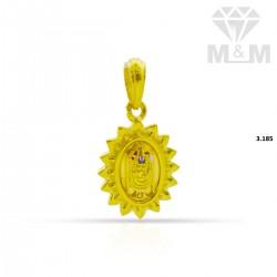 Excellent Gold Balaji Pendant