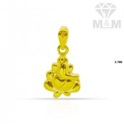 Exotic Gold Ganesha Pendant