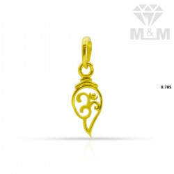 Exquisite Gold Casting Pendant