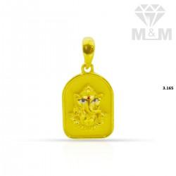 Gallant Gold Ganesha Pendant