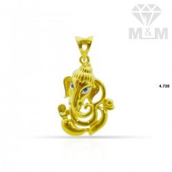 Gentle Gold Ganesha Pendant