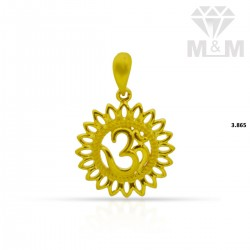 Glamorous Gold Casting Pendant