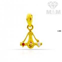 Dramatic Gold Balaji Pendant