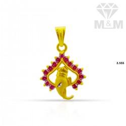 Polite Gold Ganesha Pendant