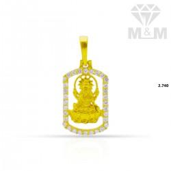 Decent Gold Lakshmi Pendant