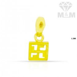 Tasteful Gold Casting Pendant