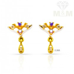 Beauteous Gold Casting Earring