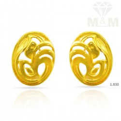 Dainty Gold Casting Earring