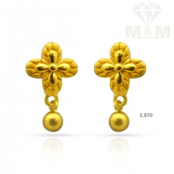 Exotic Gold Casting Earring