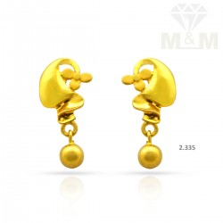 Exquisite Gold Casting Earring