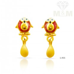 Fine Gold Casting Earring