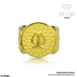 Hallowed Gold Men Fancy Ring