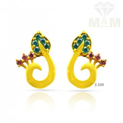 Pretty Gold Casting Earring