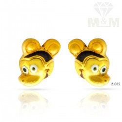 Quite Gold Casting Earring
