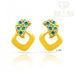 Vivid Gold Casting Earring