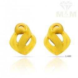 Elegance Gold Casting Earring