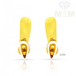 Esthetic  Gold Casting Earring