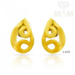 Classy Gold Casting Earring