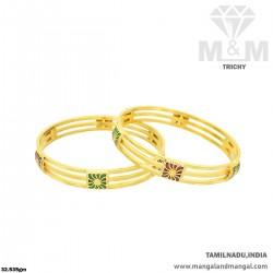 Fabled Gold Women Fancy Bangle