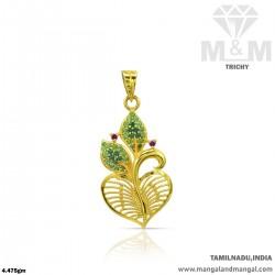 Graceful Gold Casting Pendant