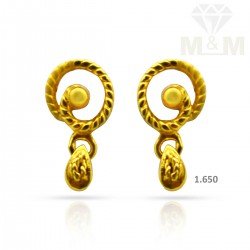 Awesome Gold Casting Earring