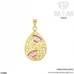Inspired Gold Casting Pendant