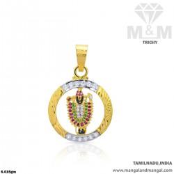 Quite Gold Lord Balaji Pendant