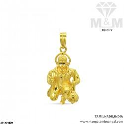 Unique Gold Lord Hanuman...