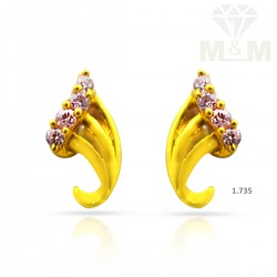 Dazzling Gold Casting Earring