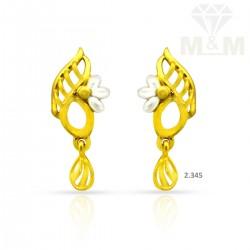 Sparkling Gold Casting Earring