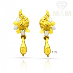 Blessed Gold Casting Earring