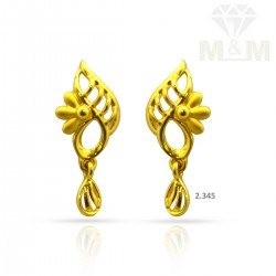 Fortunate Gold Casting Earring