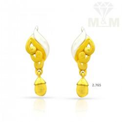 Skilful Gold Casting Earring