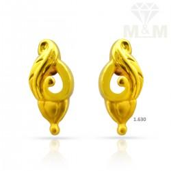 Polite Gold Casting Earring