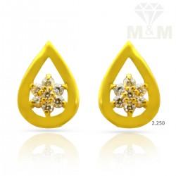Elegant Gold Casting Earring