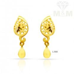 Embellish Gold Casting Earring