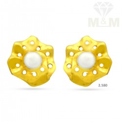 Excellent Gold Casting Earring