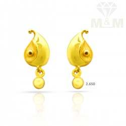 Famous Gold Casting Earring
