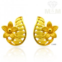 Fascinate Gold Casting Earring