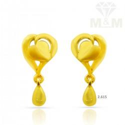 Inspired Gold Casting Earring