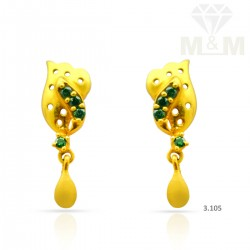 Enormous Gold Casting Earring
