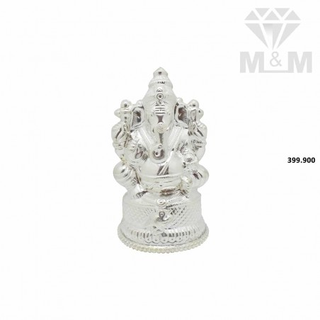 Niceness Silver Ganesha Vigragam