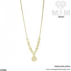 Polite Gold Fancy Dollar Chain