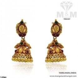Quite Gold Women Antique Earring